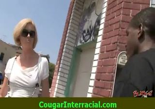 interracial sex - sexy cougar milf receives