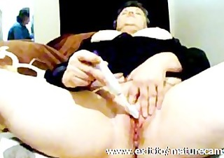 55 years breasty bbw claudia solo at home