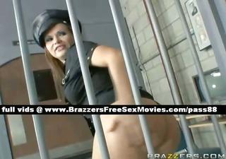 pleasant redhead prison guard