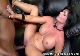 Busty milf getting interracial fucking from lucky