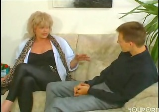 a big tit, large clitoris milf