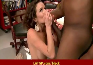 milf acquire fucked by big black monster cock -