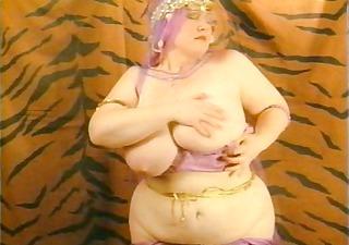 wonderful retro bbw mature stripping