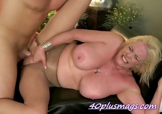 excited blond housewife goes bizarre