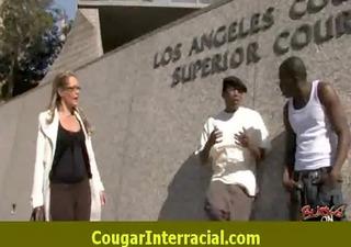 Hard interracial sex with a super hot cougar milf