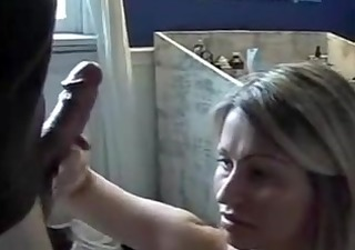 blonde wife acquires a homemade facial