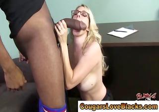 Horny cougar milf big black cock blowjob