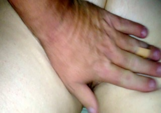 rubbing the wifes white bushy booty &; pussy